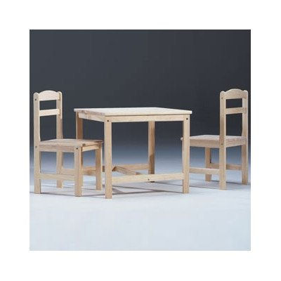 Unfinished Wood Kids' 3 Piece Table and Chair Set - Juvenile Kids Table