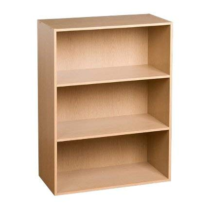 Folding Bookcase Mission - MIK Wood Bookcase - 3 Tier Bookcase - Beech