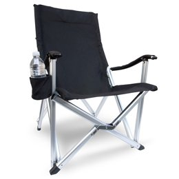 THE COOL CHAIR.... HEAVY-DUTY OASIS Compact Chair w/ Carry Bag-Cell Phone Holder & Drink Holder..A BONUS SOLAR RECHARGEABLE LED FLASHLIGHT INCLUDED WITH YOUR PURCHASE..