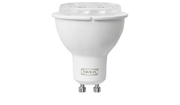 TRADFRI Bombilla LED GU10 400 Lúmenes Inalámbrico Regulable Espectro Blanco: Amazon.es: Iluminación