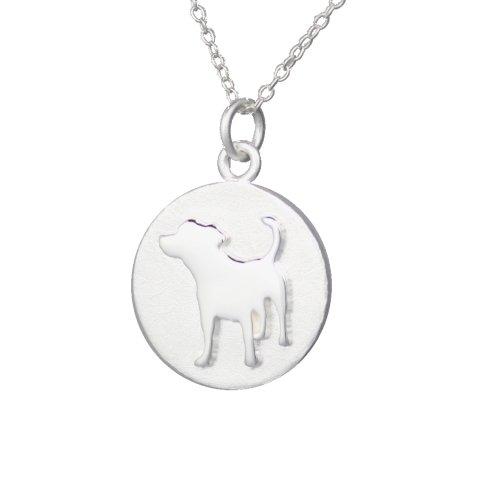 Mochi & Jolie Silver Pendant Necklace, Jack Russell