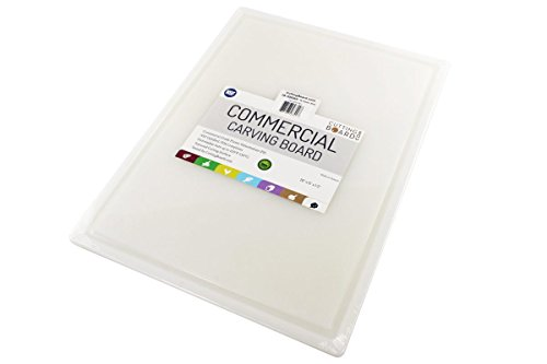 Commercial Plastic Carving Board with Groove, NSF Certified,