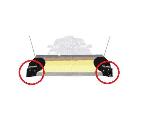 The ROP Shop (2) Snow PLOW Blade Replacement Edges PW22 Pro Wing Extensions Buyers 0020500
