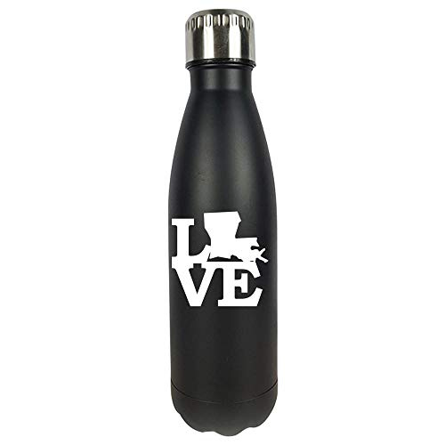 - Louisiana Pride USA State Love Map - Vacuum Sealed Water Bottle
