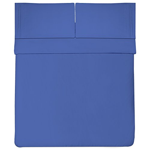 Sweet Home Collection 1800 Thread Count Bed Sheet Set Egyptian Quality Brushed Microfiber 5 Piece Deep Pocket, Split King, Royal Blue by Sweet Home Collection (Image #2)