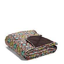 (Vera Bradley Quilted Fleece Blanket in Sierra Onesize Multi-color)