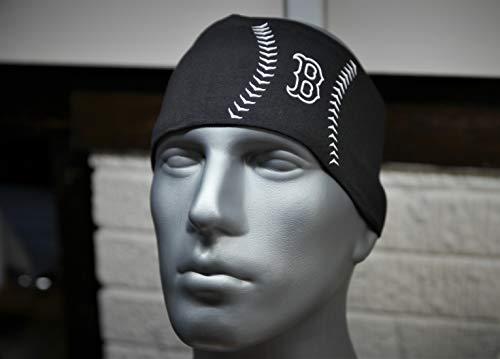 Boston Red Sox Lightweight Concept Stitch Series Universal Headband Non Slip Moisture Wicking Sweatband - Casual, Ball Park, Athletics Boston Red Sox Headband