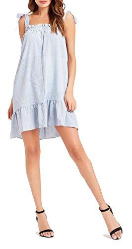 2 Summer Sexy Flare Ruffle Jaycargogo Sleeveless Womens Plain Dress BqBv8za