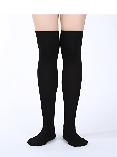 9b5590f3a Satinior Women Knee High Socks High Thigh Stockings with Colorful Strips  for Cosplay