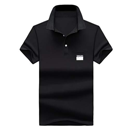 Stoota Summer Men's New Golf Shirt,Fashion Polo Shirt,Jersey Tee Short Sleeves Dark Blue -