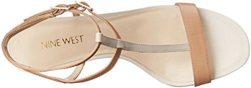 Nine West Dacey sintético de tacón de la sandalia Medium Natural Multi Synthetic