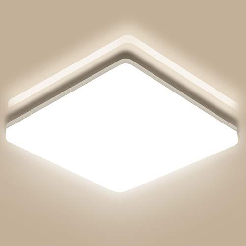Oeegoo Led-plafondlamp, 18 W, IP44 waterdicht, 1800 lumen, voor badkamer, slaapkamer, woonkamer, kinderkamer, balkon…