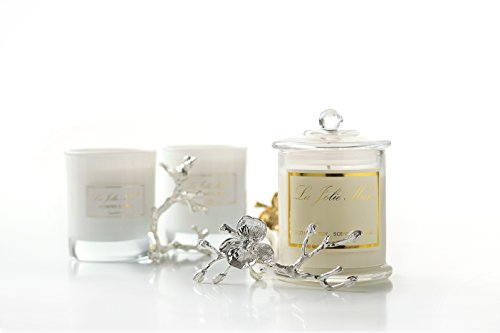 Authentic jasmine scented candles soy wax 55 hours burn fine home fragrance gifts free - Burning scented candles home dangerous really ...