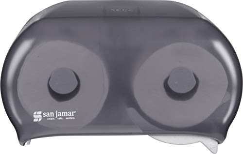 (San Jamar R3600TBK Versa twin Dual Bath Tissue Dispenser, 1.437