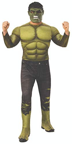 Rubie's Men's Marvel Avengers Infinity War Hulk Deluxe Costume, - Deluxe Movie Hulk Mask