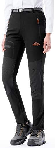DAFENGEA Women's Outdoor Quick Dry Breathable Lightweight Mountain Hiking Pants (A Black, Small) ()