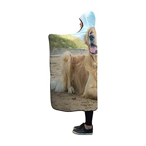 YUMOING Hooded Blanket Dog Blanket 60x50 Inch Comfotable Hooded Throw Wrap ()