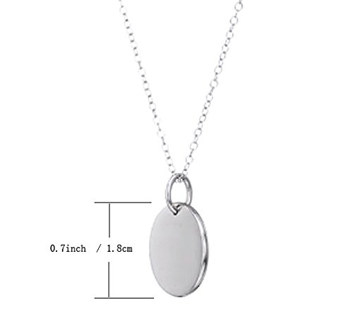 Sterling Silver I Love You Granddaughter Round Necklace Engraved Pendant 18 Chain Rhodium Plated