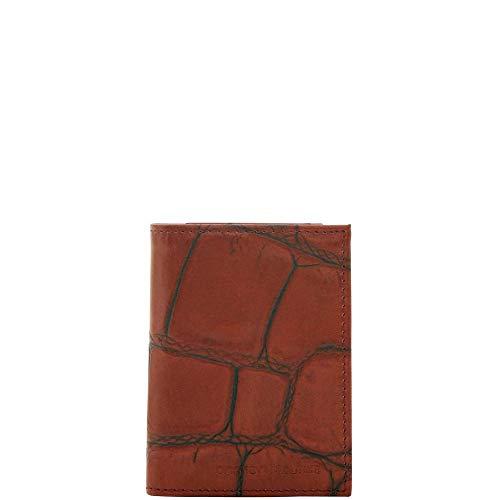 - Dooney & Bourke Men's Croco Trifold Wallet, Cognac 8847-4