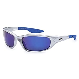 Kids K20 Sunglasses UV400 Rated Ages 3-10 (Silver Blue, Black)