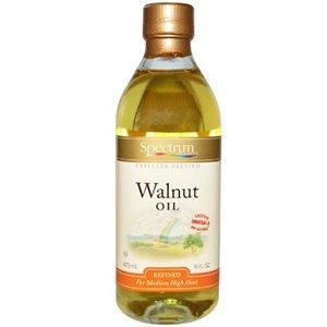 Spectrum Naturals Refined Walnut Oil 16 Oz -Pack of 3