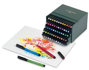 Faber Castell 60 Piece Pitt Artist Brush Pen Set Gift Box by Faber Castell