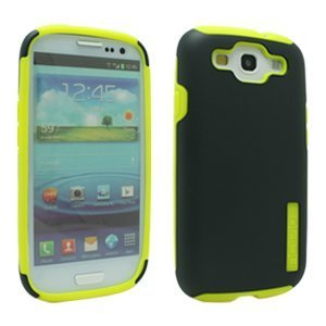 Incipio SA-304 Silicrylic Hard Shell Case with Silicone Core for Samsung Galaxy S III - 1 Pack - Retail Packaging - Dark Gray/Yellow