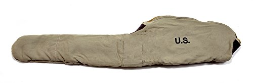 WW2 M1CARBINE FLEECE LINED CANVAS CASE WITH CARRY STRAP Marked JT&L 1943 Light OD Color