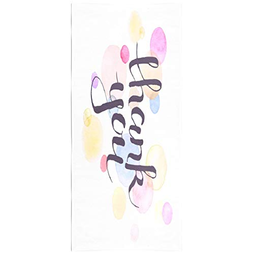- Soopat Beach Towel,Thank You with Watercolor Spots Modern Thank You Colorful Greeting Card 30x60 Inch Outdoors Sand Free Beach Blanket for Travel Sports Beach Yoga Water Park