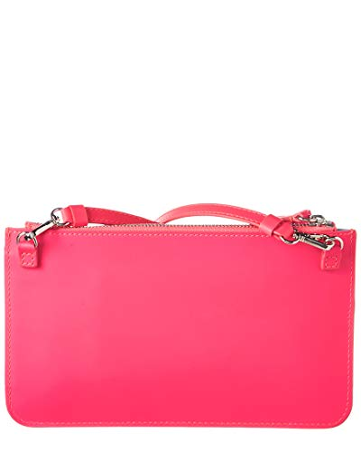 Clutch Delpozo Leather Bag Bow Mini Pink SSUrOWn6x7