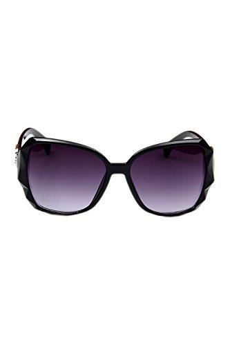 Las Sol Polarizadas Clasico 100 Mujeres Tamaño Gafas Black De De Gran UV Proteccion wwpaRZxq