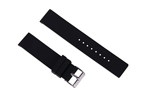 16mm Ladies' Dive Watch Strap Replacement Silicone Rubber Waterproof Bands for Smart Watches in (Rubber Strap Dive Watch)