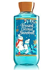 Bath and Body Works Frosted Coconut Snowball Shower Gel Body Wash 10 Ounce Full Size