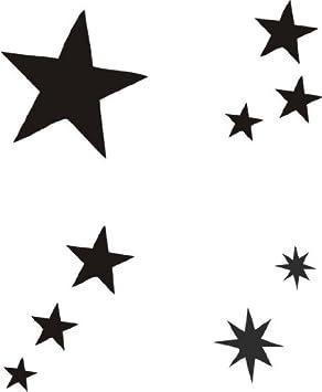 Eulenspiegel 108253 Selbstklebe Schablonen Set Sterne