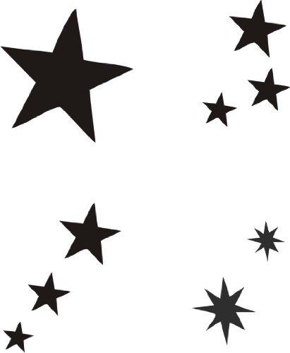 Eulenspiegel 108253 Selbstklebe Schablonen Set Sterne Amazonde