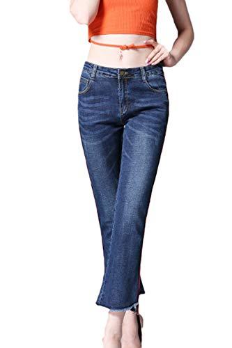Les Femmes Bootcut Jeans Classic Bell Jean Stretch Blue