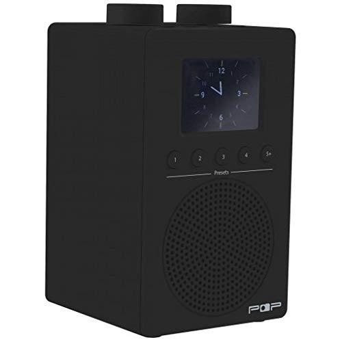 myPOP Dab+/FM, Black Headphone Out, 220v/4xAA Batt, POP100361 (Headphone Out, 220v/4xAA Batt. Auto Clock, Clock Radio with Two Alarms)