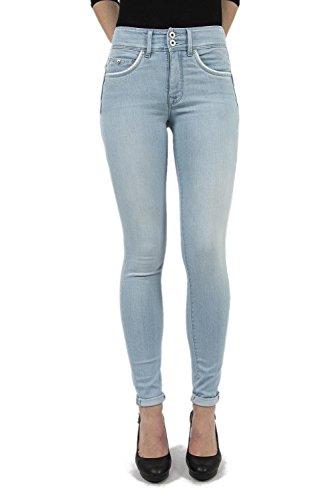 Salsa - Jeans taille haute avec dtails en cuir - Femme Bleu