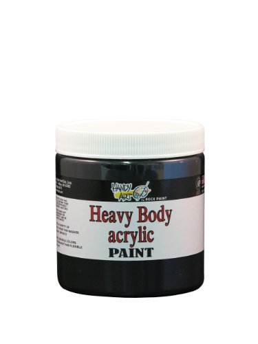 Handy Art Nu Master Heavy Body Acrylic Paint 8 ounce, Mars Black