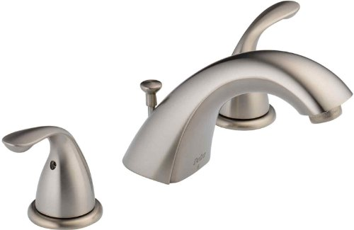 Delta Faucet Lahara 2-Handle Widespread Bathroom Faucet with Diamond Seal Technology and Metal Drain Assembly, Champagne Bronze 3538-CZMPU-DST (2 Handle Lahara)