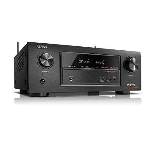 Denon AVRX6300H 11.2 Channel Full 4K Ultra HD AV Receiver with Built-in HEOS wireless technology featuring Bluetooth and Wi-Fi, Works with Alexa