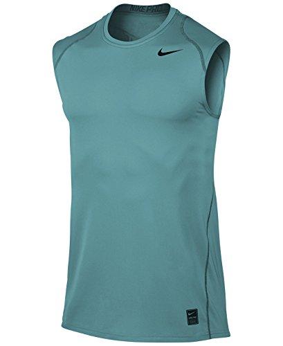 Nike Mænd `s Pro Køle Udstyret Ærmeløs Skjorte Lyseblå (703102-449) / Sort / Lyseblå hHggF0