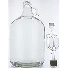 Home Brew Ohio 1 gal Glass Wine Fermenter, INCLUDE...