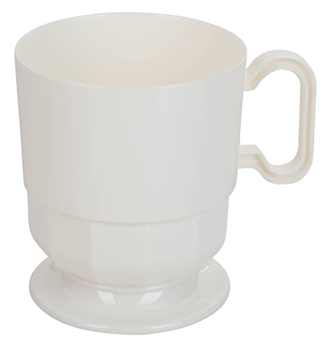 (Exquisite Cream Premium Plastic Coffee Cups - 8 oz Coffee Mug - Ivory Tea Cup - 192 - Count)