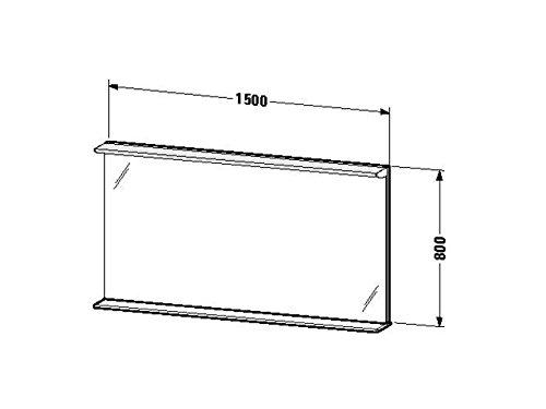 Duravit Spiegel mit Beleuchtung Darling New 170x1500x800mm, 1 Holzablage, azur, DN728502929