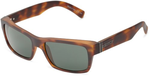 VonZipper Fulton Square Sunglasses,Tortoise Satin,One - Shades Von Zipper