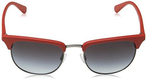 Schwarz Rot Sol Unisex Rojo Armani Adulto de Gafas Emporio wqaHP8w