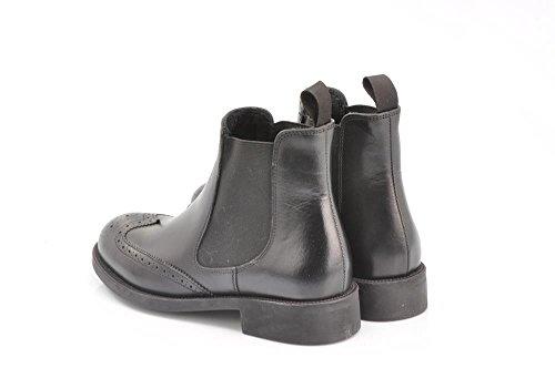 Zapatos Cuero Beatles Botines Frau Inglés Nero Mujer De En 98p7 Negro HqxYt7