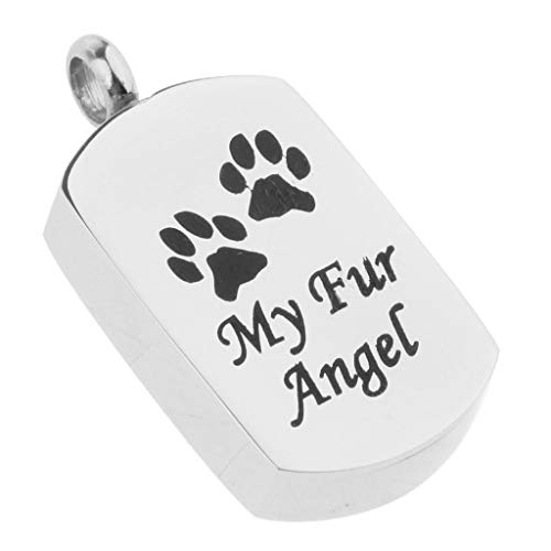 Stainless Steel My Angel Dog Paw Memorial Pendant Cremation Urn Dog - Turtle Sundial