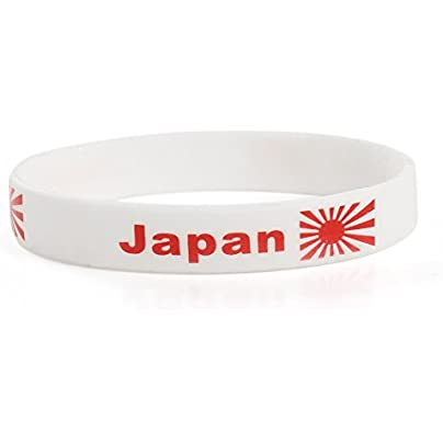 Komonee Japan White World Cup Olympics Silicone Wristbands Pack 50 Estimated Price £24.99 -